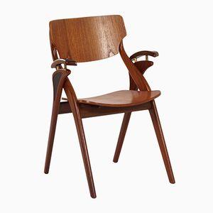Danish Dining Chair by Arne Hovmand Olsen for Mogens Kold, 1960s