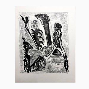 Lithographie Kafka par Jean-Michel Atlan, 1946