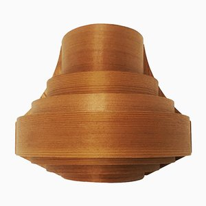 Danish Wooden Wall Lamp from Translandia, 1960s