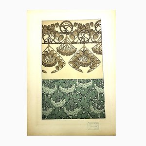 Plants Original Lithograph by Alfons Mucha, 1903