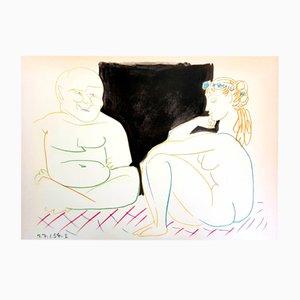 Litografia The Human Comedy di Pablo Picasso, 1954