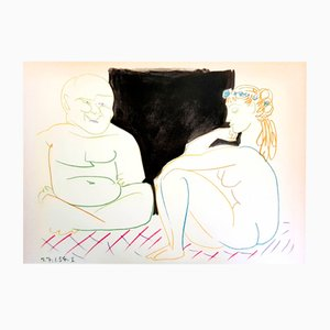 The Human Comedy Lithografie von Pablo Picasso, 1954