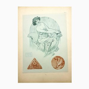Lithographie Women par Alphonse Mucha, 1902