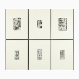 Günther Förg Window Portfolio with 6 Etchings from Kunsthandel Draheim, 1986