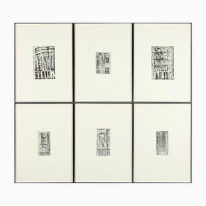 Günther Förg Window Portfolio with 6 Etchings from Kunsthandel Draheim, 1986