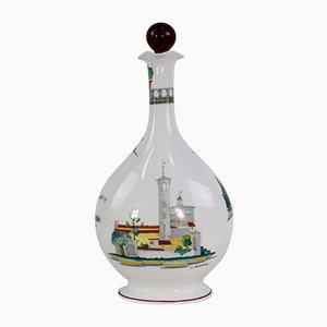 Bottiglia in porcellana di Guido Andlovitz per Richard Ginori, anni '50
