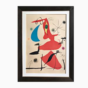 Large Colour Joan Miró Lithograph from Kunsthandel Draheim, 1973