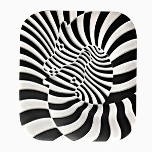 Zebras by Victor Vasarely Serigraph from Kunsthandel Draheim, 1977