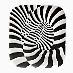 Zebras von Victor Vasarely Serigraphie von Kunsthandel Draheim, 1977