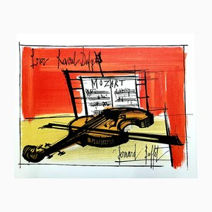 Lithographie Hommage à Dufy par Bernard Buffet, 1965