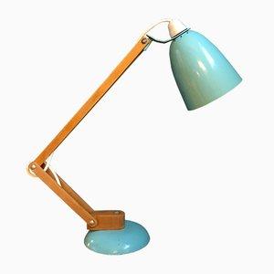 Türkisfarbene Maclamp Schreibtischlampe von Terence Conran für Habitat, 1950er