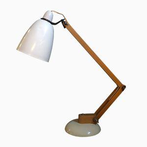 Weiße Maclamp Schreibtischlampe von Terence Conran für Habitat, 1950er