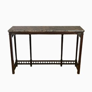 Antique Mahogany & Marble Console Table from Maple & Co