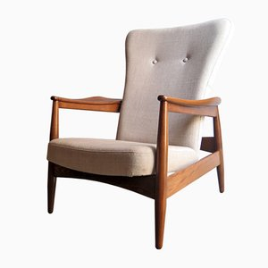 High Back Adjustable Easy Chair, 1960s