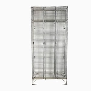 Vintage Industrial Wire Mesh Locker