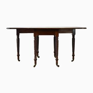 Antique Regency Mahogany Drop-Leaf Dining Table, 1820s