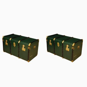 Italian Painted Trunks, 1950s, Set of 2