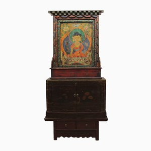 Antique Chinese Wooden Shrine