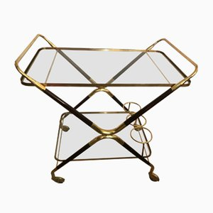 Vintage Serving Bar Cart by Cesare Lacca, 1950s