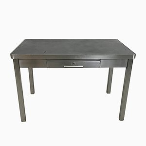 Vintage Industrial Polished Steel Desk
