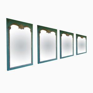 Extra große antike französische Spiegel im Rokoko-Revival-Stil, 1910er, 4er Set