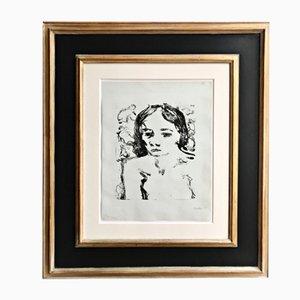 Lithografie einer Dreizehnjährigen von Erich Heckel von Kunsthandel Draheim, 1907