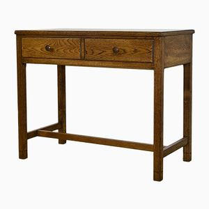 Small Vintage Oak Air Ministry Desk from Liss Bros Ltd, 1956
