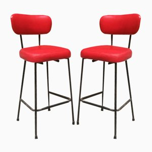 Bar Stools, 1950s, Set of 2