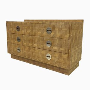 Italian Marquetry Bamboo Chest of Drawers, 1970s