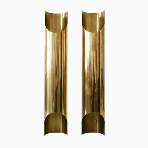 Mid-Century Brass Wall Lights, 1960s, Set of 2