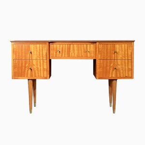 Mid-Century Satinwood Desk from Uniflex