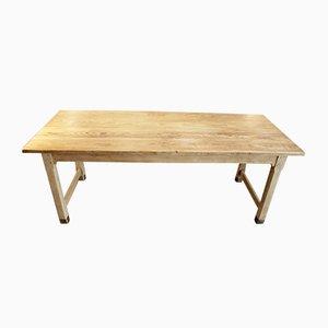 Mesa de comedor vintage de pino, años 40