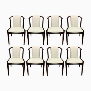 Skandinavische Vintage Stühle aus Mahagoni, 1960er, 8er Set