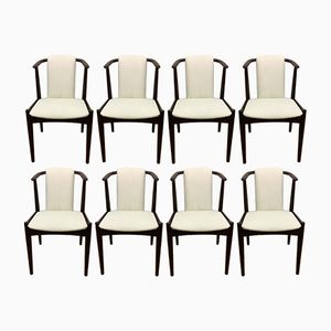 Vintage Scandinavian Mahogany Chairs, 1960s, Set of 8