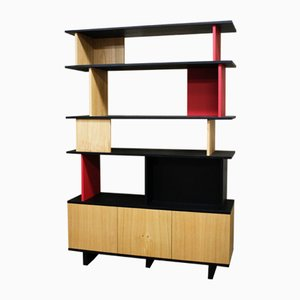 Double-Sided Stained and Lacquered Solid Oak Bookcase by ILYT for ILYT