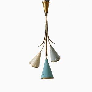 Mid-Century Sputnik Kronleuchter oder Hängelampe, 1950er