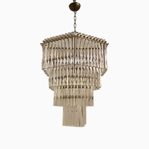 Lámpara de araña Mid-Century con tubos acrílicos