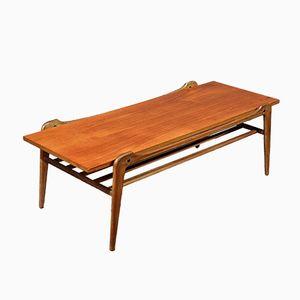 Mid-Century Danish Teak Slatted Coffee Table