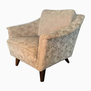 Vintage French Velvet Club Chair, 1960s