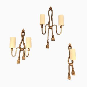 Bronze Corded Sconces from Valenti Luce, 1970s, Set of 3