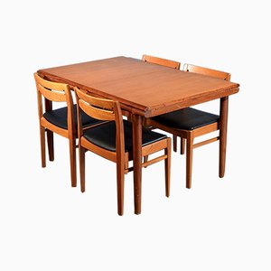 Mid-Century Danish Dining Table & 4 Chairs, 1960s
