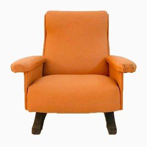 Vintage Modern Brown Skai Armchair