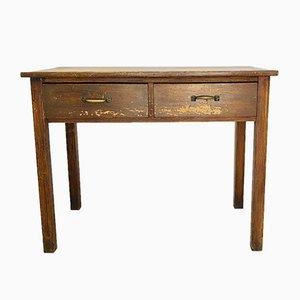 Mesa de trabajo vintage de madera, años 50