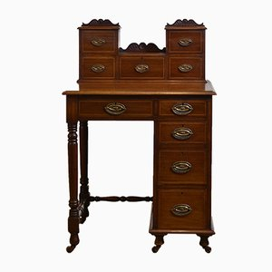 Antique Edwardian Mahogany & Inlaid Writing Desk