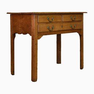 Tavolino vintage georgiano antico in legno di albero da frutta