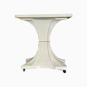Carrello o tavolino vintage bianco, anni '60