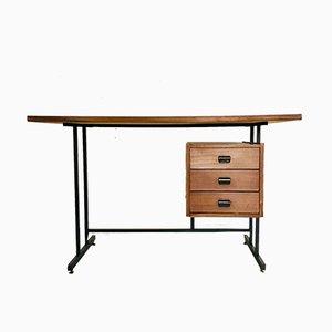 Vintage Schreibtisch aus Holz & Eisen, 1970er