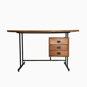 Vintage Wood & Iron Desk, 1970s