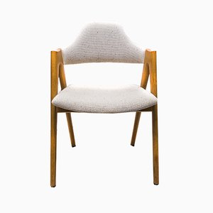Oak Compass Chair by Kai Kristiansen for SVA Møbler, 1960s