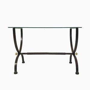 Tisch aus Glas & Messing, 1970er